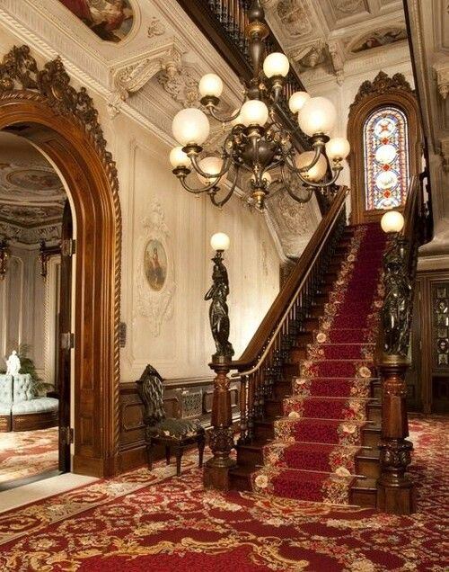 Victorian House Interior Designs In 2019: Victorian - Cassandra's Grand Staircase