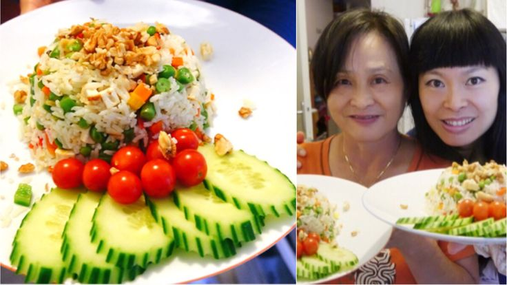 Riz cantonais [Recette de ma maman] [Version Vegan] au tofu et haricots ...