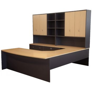 Lincoln Setting, Timber Veneer / Melamine  Custom Designed Office Desk http://keenoffice.com.au/product/veneer-lincoln-setting/