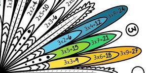 Structure du mandala des tables de multiplication de 1 à 10