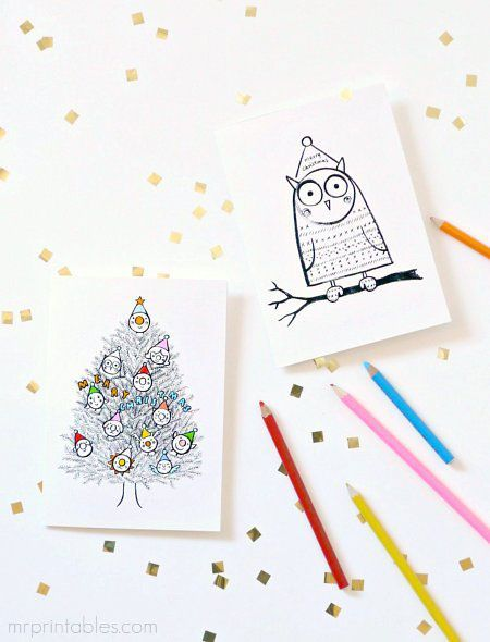 25 best ideas about Free Printable Christmas Cards on Pinterest