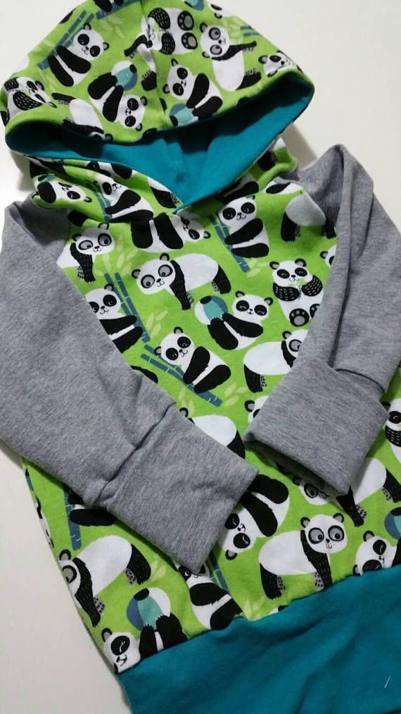 Grow with me hoodie 12m-3t Panda Power  Check out this item in my Etsy shop https://www.etsy.com/ca/listing/589460953/panda-power-hooded-sweatshirt-12-months