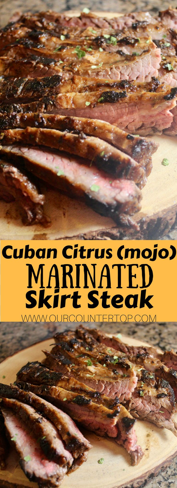 This mojo-marinated Cuban skirt steak is packed with so much flavor! The whole family will love it.