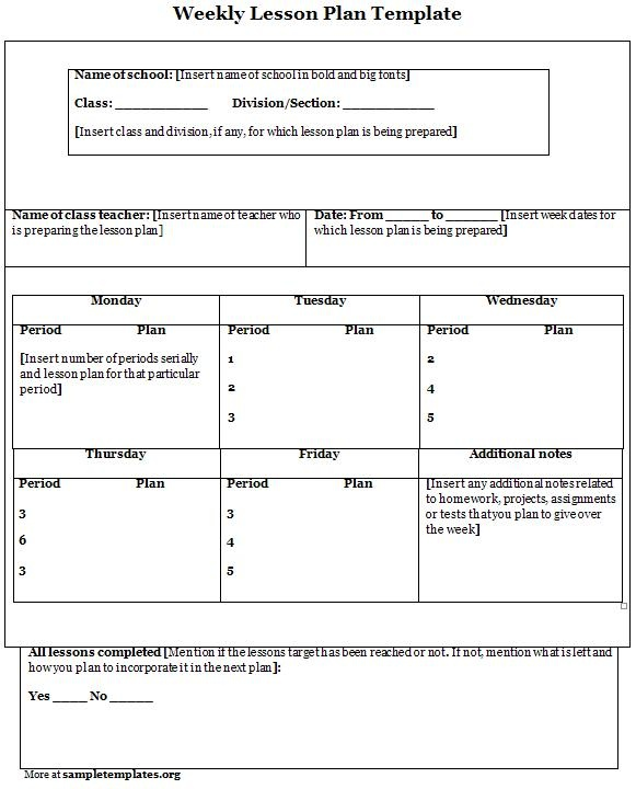 Weekly lesson plan template teacher portfolio ideas for Teaching portfolio template free