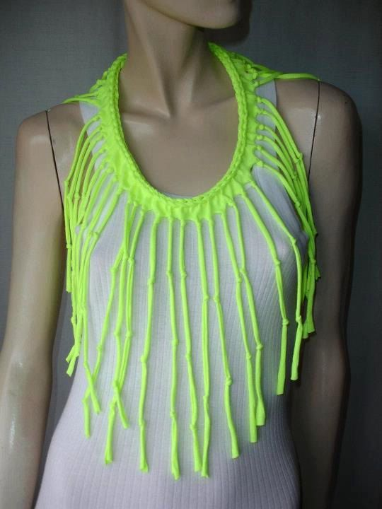 womens shredded braided fringe recycled por JohnnyVegasOriginals, $25.00