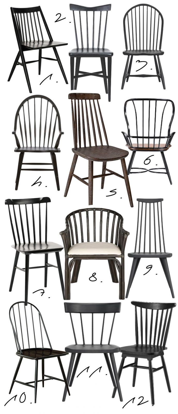 more photos d6e6f 71535 FARMHOUSE STYLE: BLACK WINDSOR DINING CHAIRS FOR EVERY ...