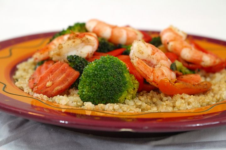 Ginger Shrimp Stir Fry and Quinoa A.K.A. Flardra's Ginger Blasted Shrimp      Visit blackstreakkitchen.com to have this meal delivered to your home with a super fun comic recipe that only Black Streak Kitchen can deliver! Fun for kids, teens and families. #food #recipe #kidsrecipe #cooking