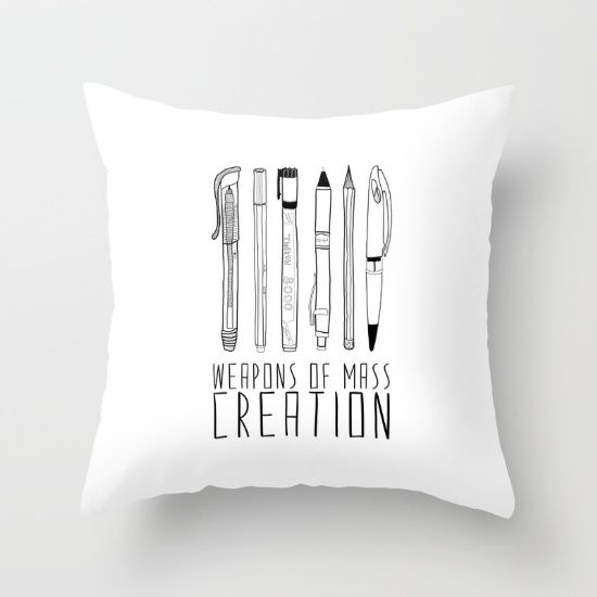 weapons of mass creation Throw Pillow   Weapons, Throw ...