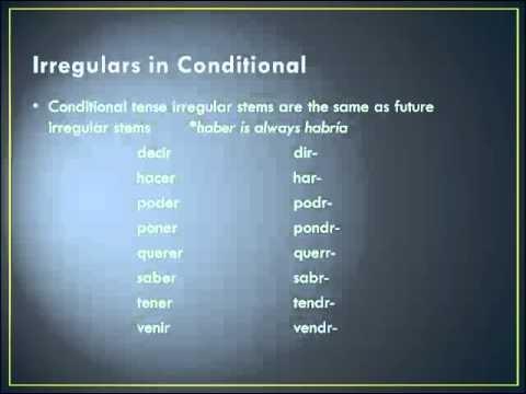 conditional leccion
