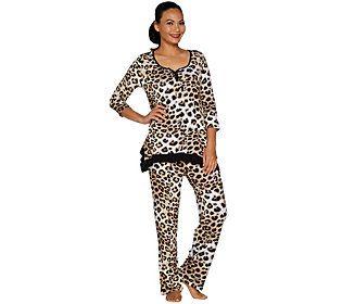 Ellen Tracy Jersey Knit Pajama Set