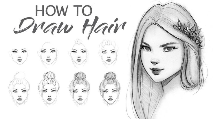 best 25 drawing hair tutorial ideas on pinterest