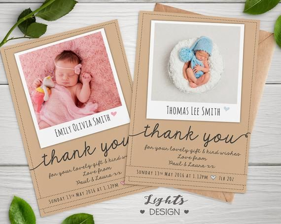 Personalised Thank You Cards With Photo Birthday New Baby Etsy Birthday Thank You Cards Personalized Thank You Cards Christening Thank You Cards