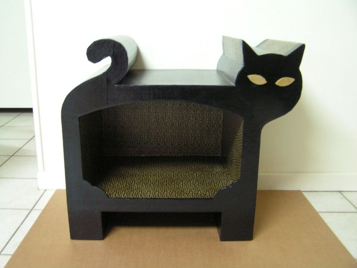 1000 ideas about cardboard cat house on pinterest cat. Black Bedroom Furniture Sets. Home Design Ideas