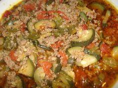 Mexican Picadillo with Zucchini, Picadillo Mejicano con Calabasitas