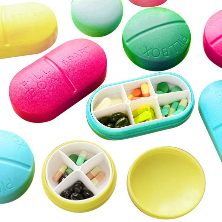 1 Pcs Cute Compartment Travel Pill Box Organizer Tablet Medicine Storage Dispenser Container Holder Case New Arrival 12 style #Affiliate