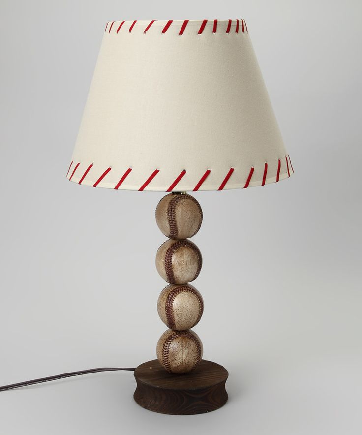 Look at this White Stacked Baseball Lamp on #zulily today!