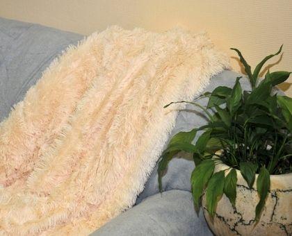Купить покрывало из искусственного меха КОНФЕТТИ кремовое 220х240 от…
