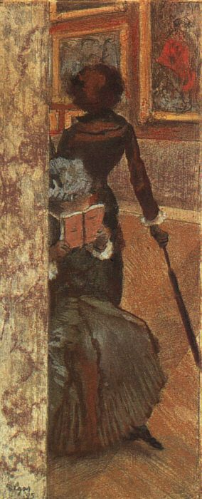 Mary Cassatt and her Sister at the Louvre by Edgar Degas, 1885