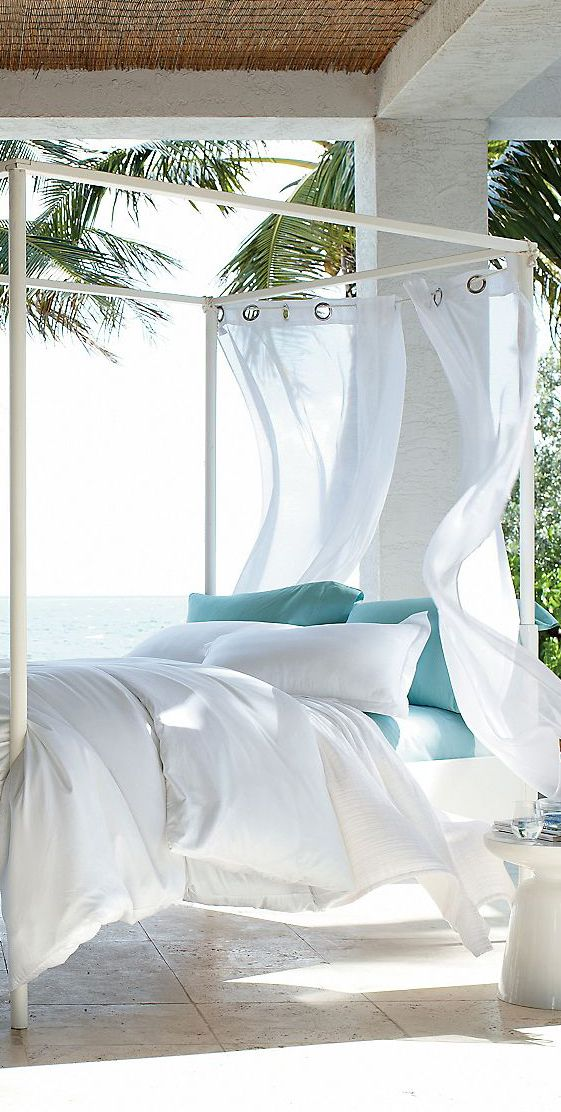 sleeping outdoors by our pool is wonderful - so I would think sleeping outdoors by the beach would just be awesome...