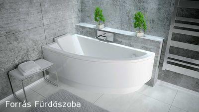 Niagara Wellness Fanny sarokkád-balos-150x70 cm előlap nélkül - Forrás Fürdőszoba Felszerelések Webáruháza - webáruház, webshop