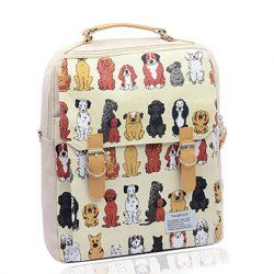 $11.95 Sweet Women's Satchel With Puppy Print and Buckle Design