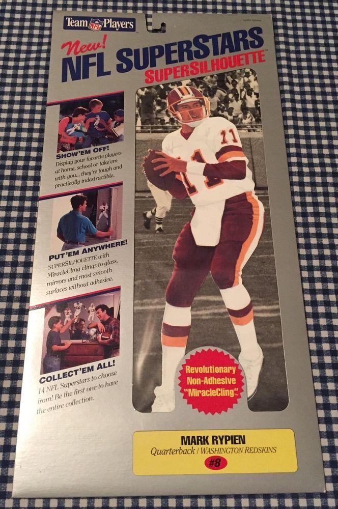 Vintage Mark Rypien NFL SuperStars Super Silhouettes Cling Washington Redskins #WashingtonRedskins