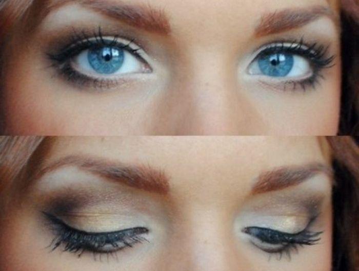 Super Plus de 25 idées uniques dans la catégorie Maquillage yeux bleus  UQ93