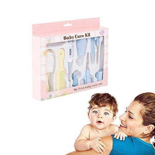 Homvik Set Para Cuidado De Bebé Set Para Recien Nacidos 10 Pcs Con Aspirador Nasal Cepillo de Dientes de Dedo Termómetro Cortauña Tijeras Cepillo de Pelo y Peine Etc #Homvik #Para #Cuidado #Bebé #Recien #Nacidos #Aspirador #Nasal #Cepillo #Dientes #Dedo #Termómetro #Cortauña #Tijeras #Pelo #Peine