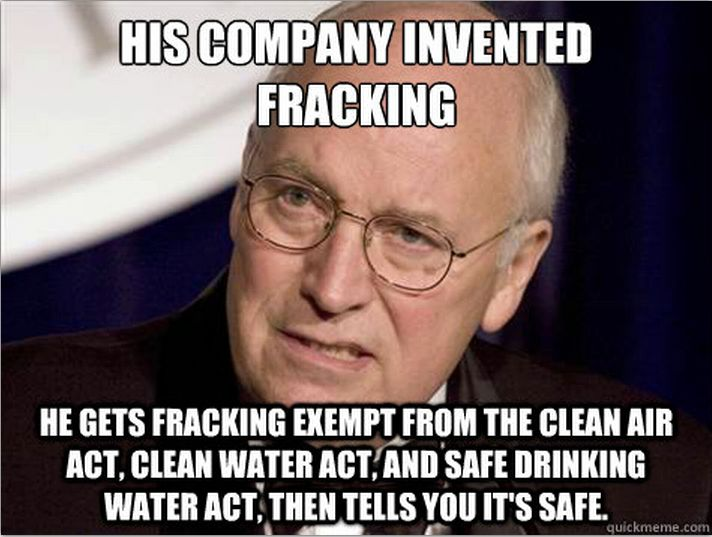 """What A Dick. And Now Hillary Is Going To Give Big Oil & Gas, Including Frackers, Anything They Want Since They Funded Her Campaign, Along With Big Pharma, Wall Street & All Of Her Corporate """"Friends"""". My Vote Goes To Bernie, He Was Funded By Us & He Is & Has Always Been Anti-Fracking.  Bernie Doesn't Go Which Way The Wind Blows. He Is True to His Positions & His Voters! #FuelTheBern. #FrackOffHillary."""