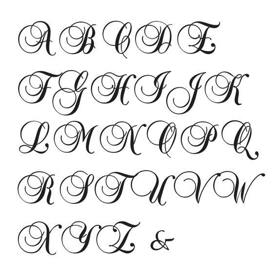 monogram letters to print - Google Search
