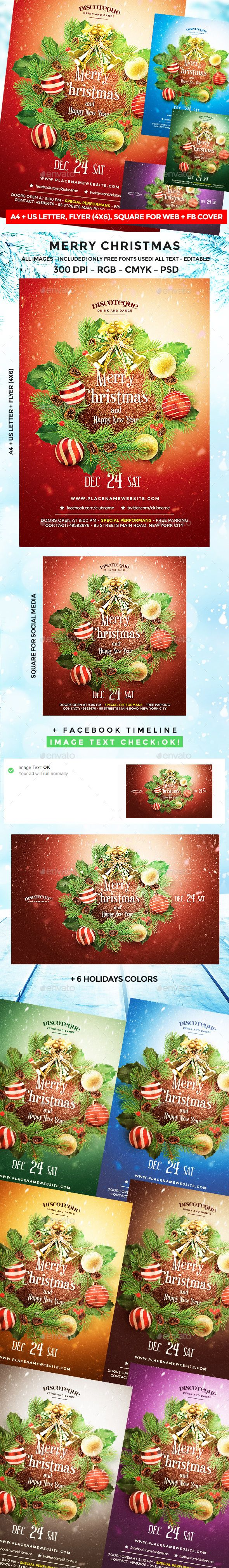 Christmas — Photoshop PSD #christmas card #christmas party • Available here ➝ https://graphicriver.net/item/christmas/20861024?ref=pxcr
