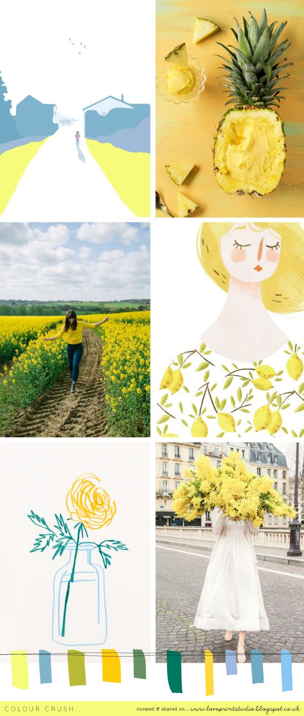 Half way through this second colour crush week and celebrating all things lemony and lovely! (image credits clockwise from top left) 1 | 2 | 3 | 4 | 5 | 6 x x x