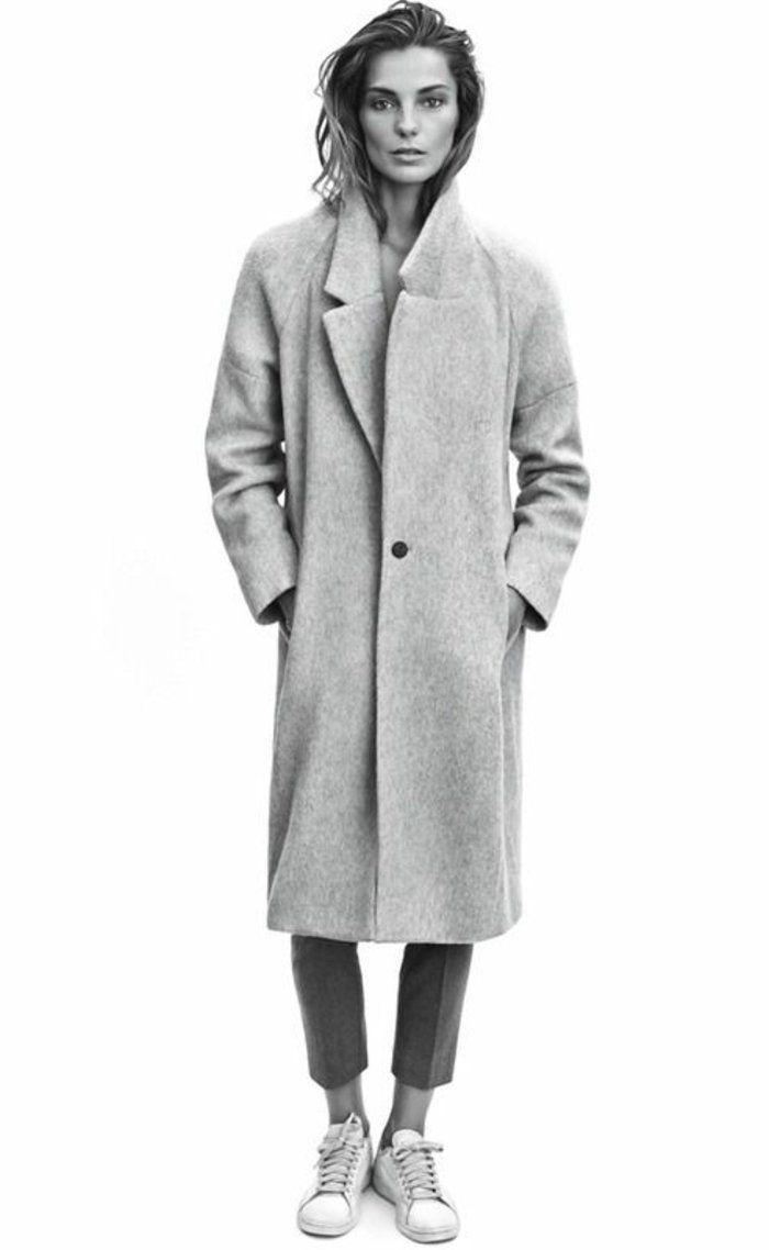 manteau zara gris pour les filles modernes