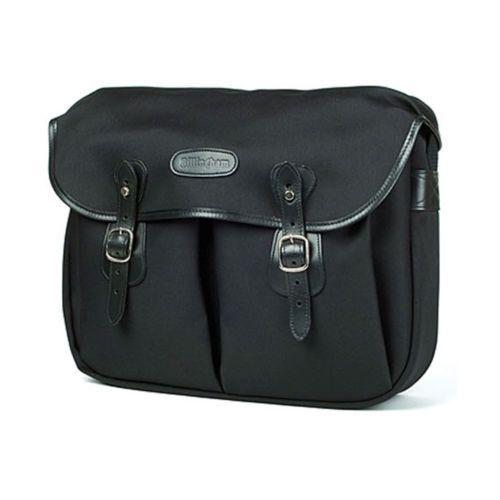 [Billingham] Hadley Large Black FibreNyte Black Leather Camera Shoulder Bag New