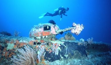 Wreck diving at Tufi. Tufi Resort is one of Papua New Guinea's best dive resorts. http://www.papuanewguinea.travel/x,1,2384/tufi-resort.html #scubadiving #wrecks #travel