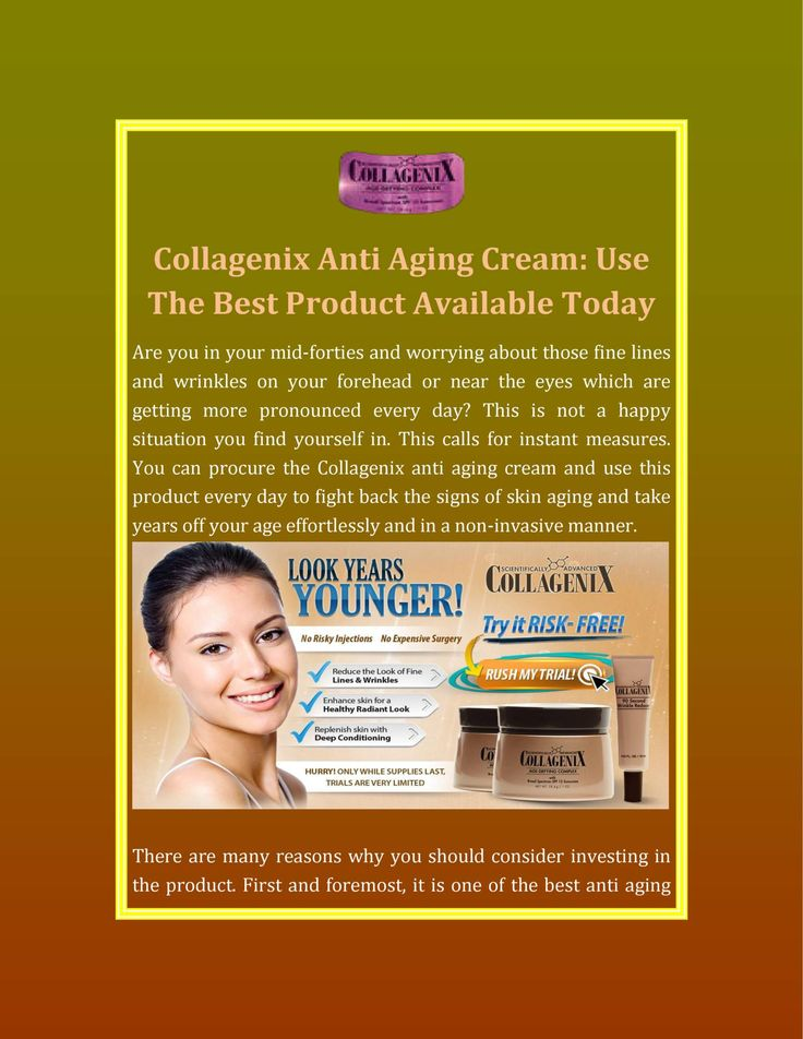 Use the best #product of #Collagenix #antiaging #cream