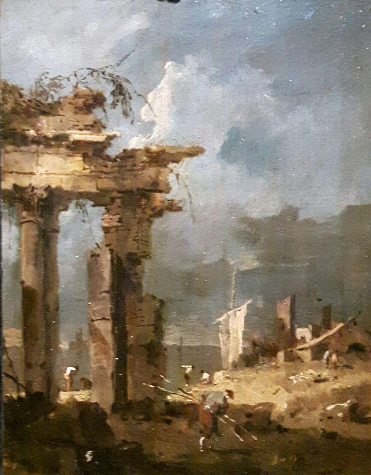 Capriccio lagunare con colonnato in rivina. 1790. Collezione Cini