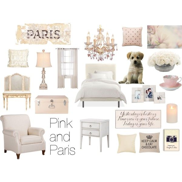 Pink and Paris bedroom