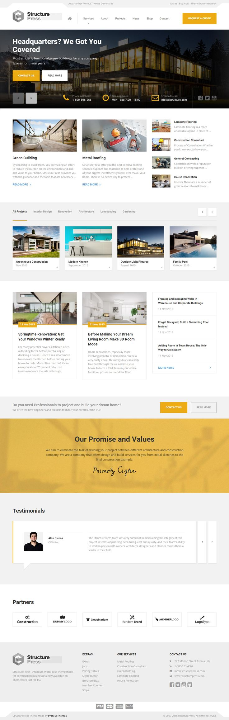 StructurePress is Premium full Responsive Retina #WordPress Construction Company #Theme. #Bootstrap 3. Visual Composer. WooCommerce. Free demo at: http://www.responsivemiracle.com/cms/structurepress-premium-responsive-construction-building-wordpress-theme/