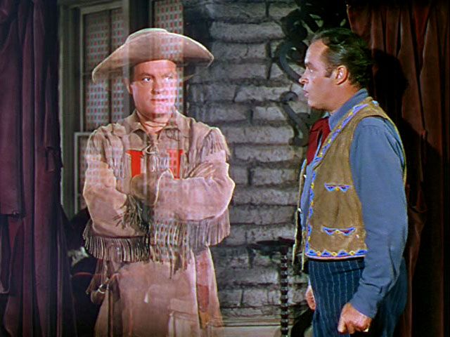 """Bob Hope and Bob Hope in """"Son of Paleface"""" 1952."""