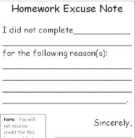 excuse letter for not doing homework 101 homework excuses 15729