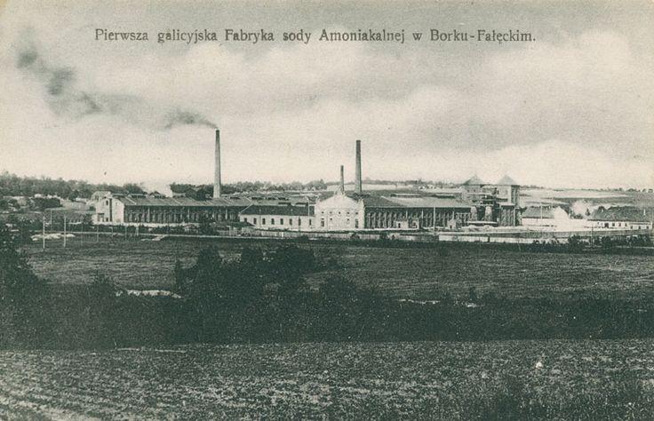 Pierwsza galicyjska fabryka sody amoniakalnej w Borku Fałęckim. Ze zbiorów Marka Sosenki. Galeria: Dawne widokówki.
