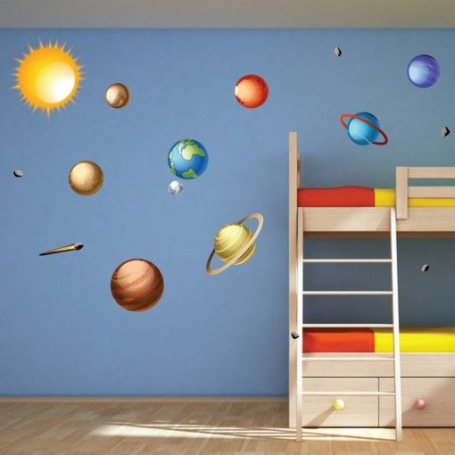 26 best Space/Solar System Bedroom images on Pinterest | Kids ...