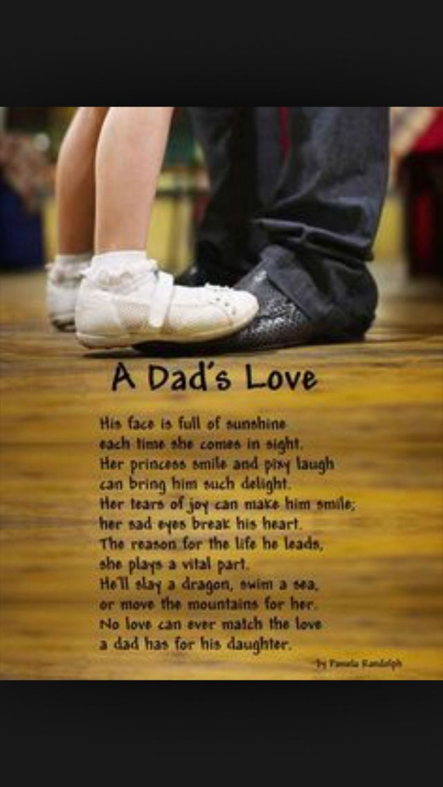That's a dads love