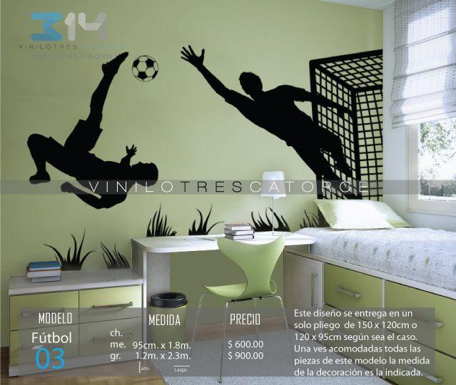 Las 25 mejores ideas sobre dormitorio deportes de chico for Vinilos habitacion juvenil chico
