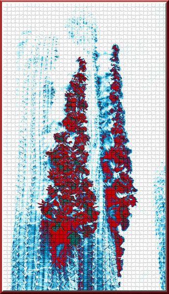 """'Wandkacheln """"Kaktus (3)""""' von Rudolf Büttner bei artflakes.com als Poster oder Kunstdruck $18.03"""