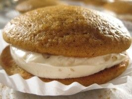 Cooking Channel serves up this Pumpkin Whoopie Pies recipe plus many other recipes at CookingChannelTV.com