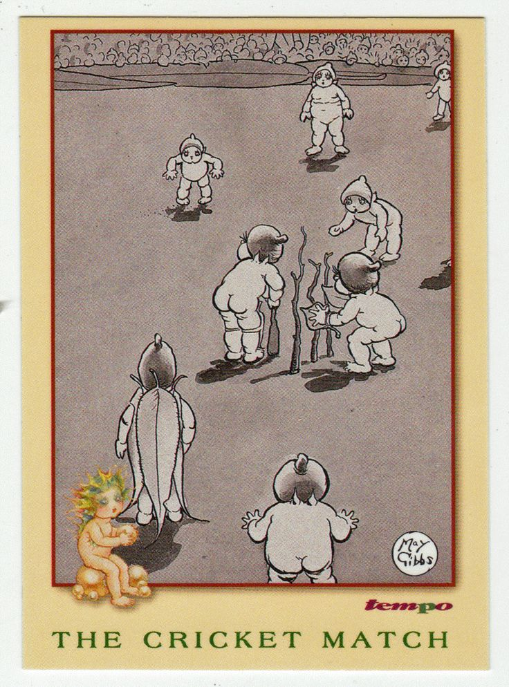 May Gibbs Cards # 48 - The Cricket Match