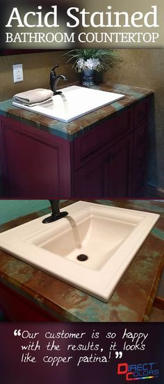 Best 25+ Stained Concrete Countertops Ideas On Pinterest | Stained Concrete,  Concrete Stain Colors And Polished Concrete Countertops
