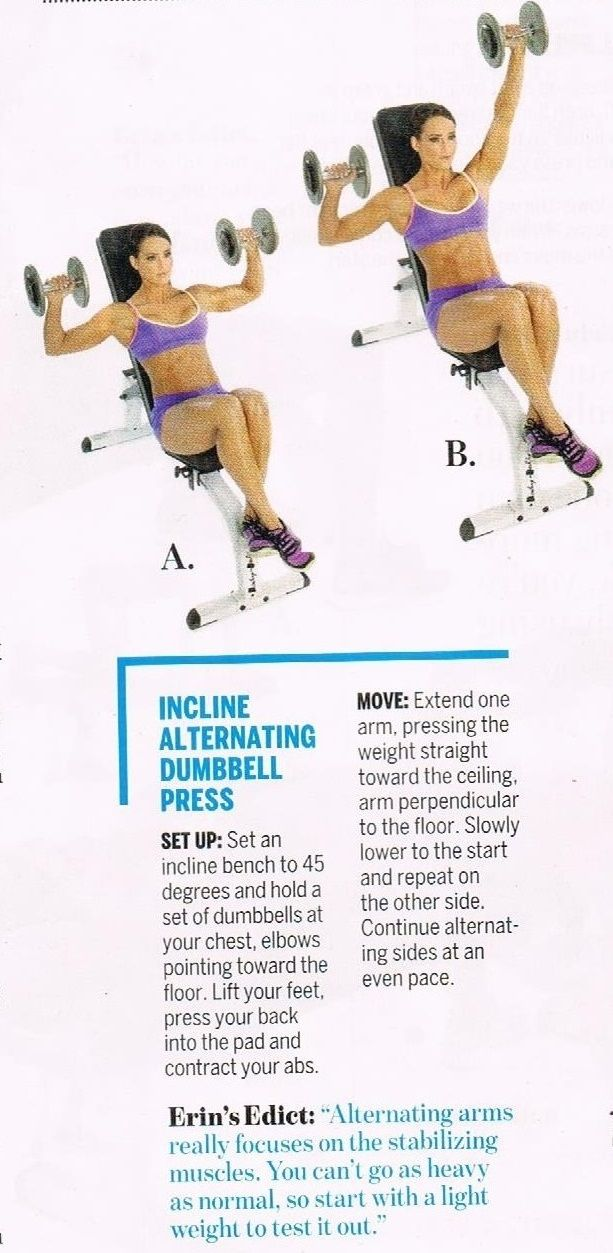 Erin's Push-Pull superset Chest/back superset Incline ...